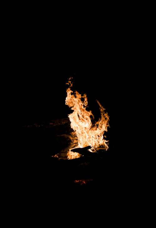 Flames In The Night Photo