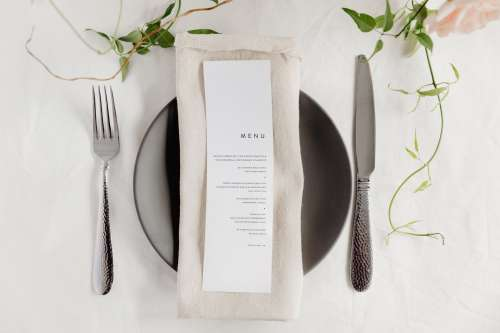 Place-Setting At A Restaurant Table Photo