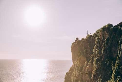 Sunset Along Jungle Cliffside Photo