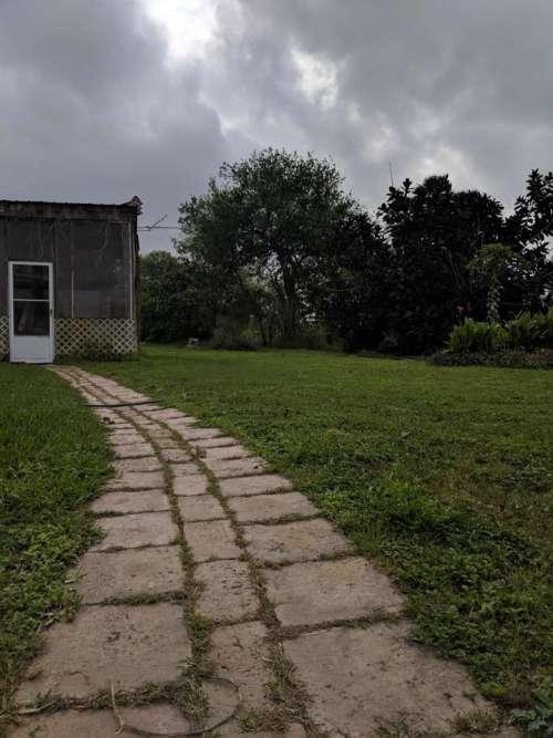 path cobbles stones building