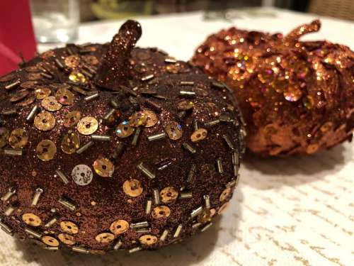 pumpkin glitter sequin sequin pumpkin decor