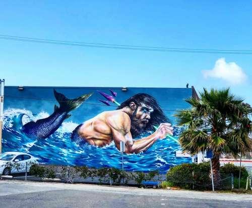 Art mural San Clemente California creative