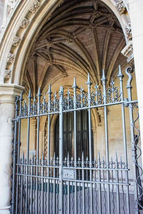 churches Westminster London wrought_iron railing