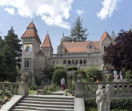 Europe Hungary Szekesfehervar architect castle