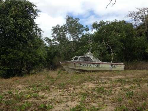 abandoned boat boat junk Australia