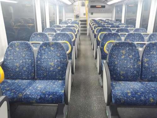 Train car seats transportation