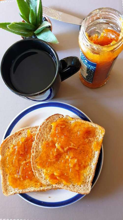 food breakfast tea toast food and drink