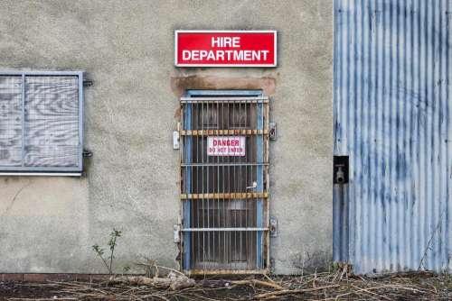 hire department closed shut locked