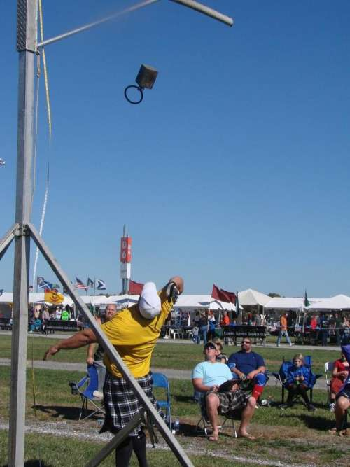 Highland Games Scottish Scotland kilt hammer throw