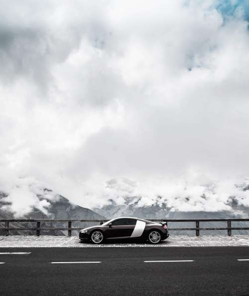 Audi R8 on Grossglockner Quote Free Photo