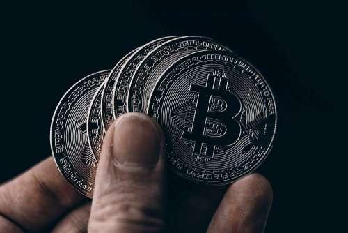 Black Bitcoin Coins Free Photo