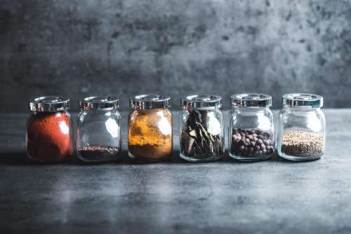 Different Kinds of Spices Free Photo