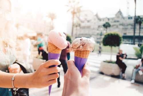 Ice Cream in Hands Free Photo
