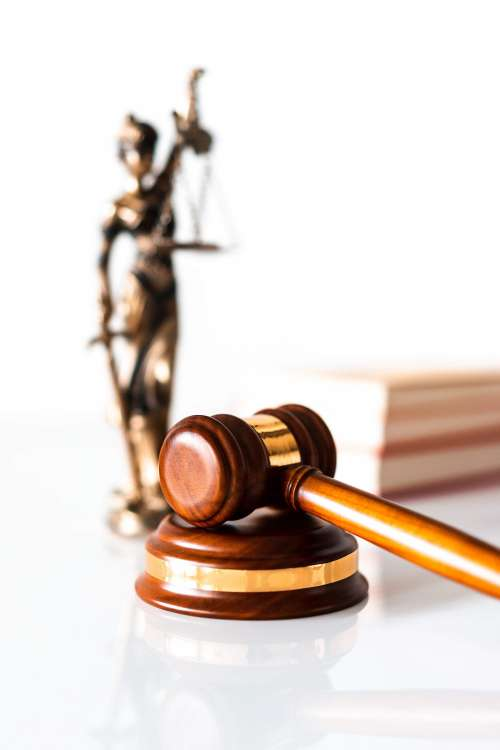 Judge Hammer and Blind Lady Justice Statue Free Photo