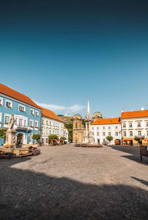 Mikulov City Square in Czech Republic Free Photo