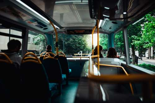 Morning Bus Ride to the Work Free Photo