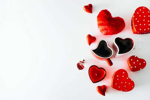 Romantic Heart-Shaped Objects Free Photo
