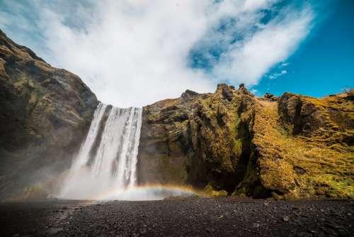 Skógafoss Waterfall Free Photo
