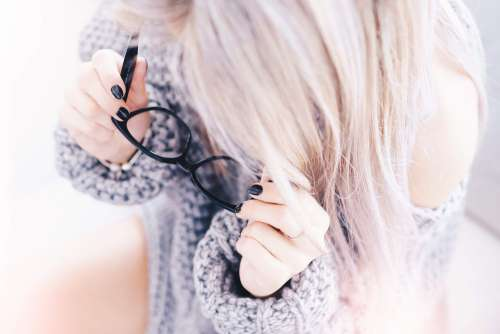 Woman With Black Glasses in Optical Store Free Photo