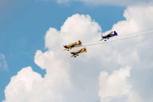 Airplane Flight Sky Flying Stunt Air Show Pilot