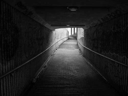 Aisle Dark Road Light Tunnel Atmosphere Lighting