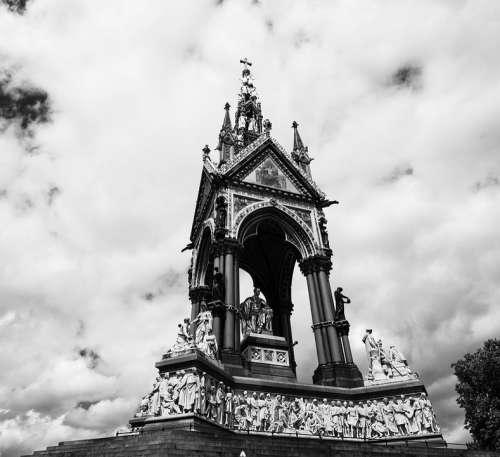 Albertmemorial London Kensington Statue