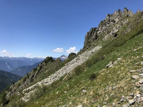 Alpine Route Alps Alpine Adventure Walk Sky Tops