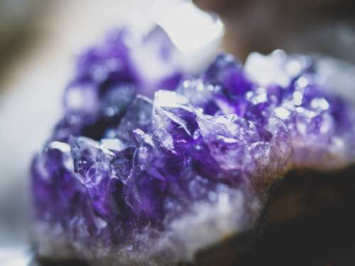 Amethyst Crystal Purple Stone Mineral Nature