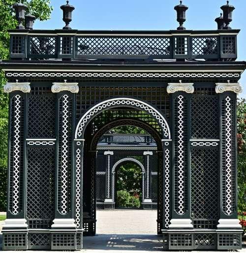 Archway Schönbrunn Palace Symmetry Castle Park