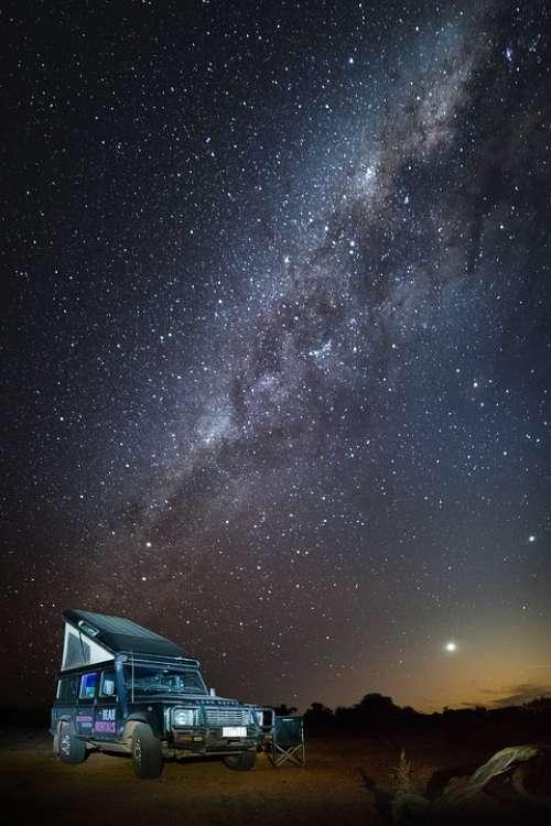 Australia Outback Landscape Milky Way Sternen