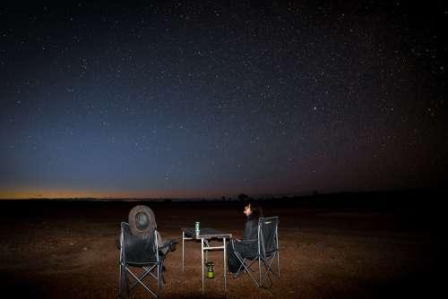 Australia Outback Travel Sternen Sunset Landscape