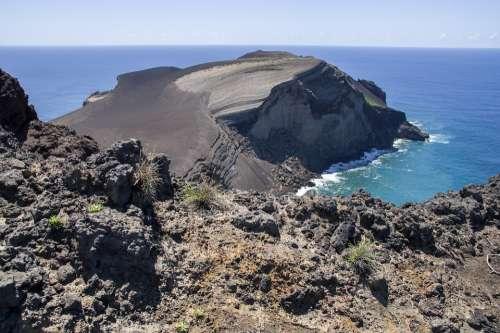 Azores Faial Volcano Ash Crater
