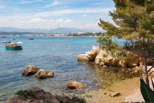 Azur Coast Côted'Azur South Of France Sea Beach