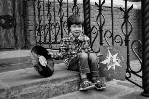 Baby Boy Records Vinyl Music Childhood Cute