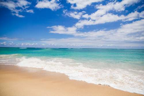 Background Beach Beautiful Beauty Blue Coast Day