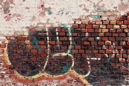 Brick Brick Wall Brick Background Graffiti