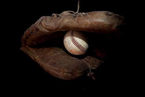 Baseball Glove Ball Sports Game Old