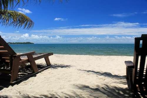 Beach Placencia Belize Ocean
