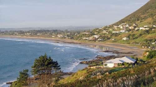 Beach New Zealand Ocean Water Nature Coast