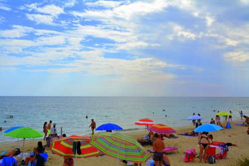 Beach Sea Tourism Salento Puglia Italy Summer