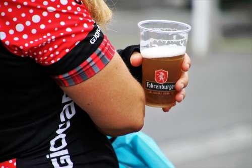 Beer The Hand Photo T-Shirt Mug Plastic Dots Back