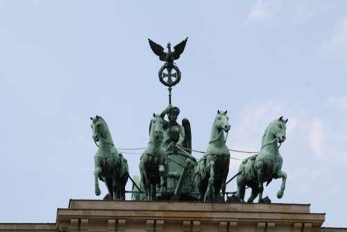 Berlin Quadriga Landmark Brandenburg Gate
