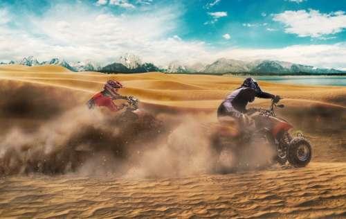 Bike Sand Travel Adventure Ride Sky