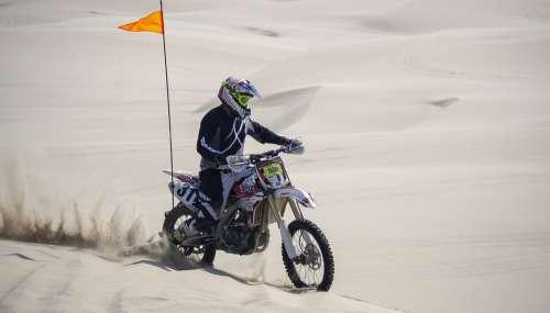 Biker Sand Dunes Desert Oregon Sand Dunes Hot