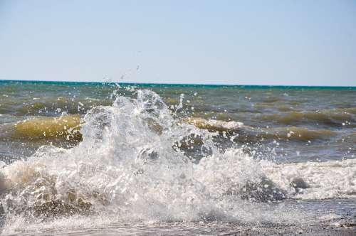 Black Sea Wave Beach Crimea Sea Water Waves Sand