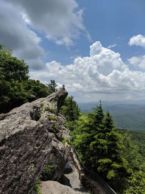 Blowing Rock Blue Ridge Mountain North Carolina