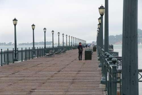 Boardwalk Jetty Pier Dock Leisure
