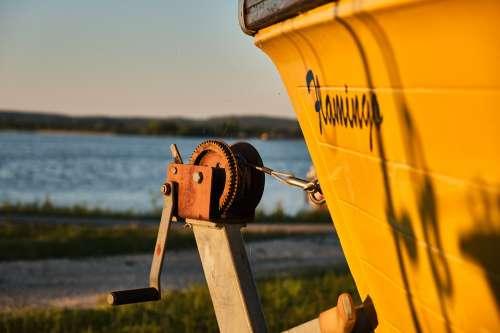 Boat Beach Abendstimmung Sunset Travel Ship