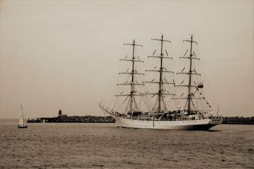 Boat Ship Sailboat Sailing Mast Nautical Marine