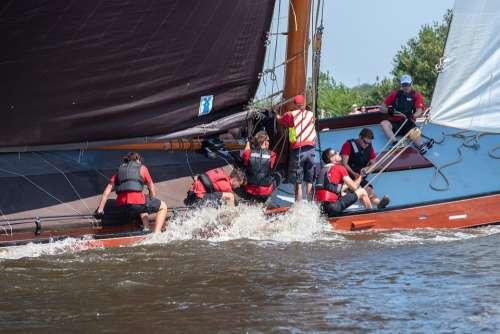 Boat Sailing Nautical Ship Sailboat Lake Sport